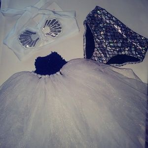 Other - Bundle*Tutu with shell/ mermaid bathing suit